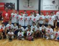 2016 Summer Basketball Camp Group Photo with Coaches